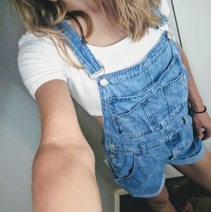 90s Guess Overalls | Overall shorts | Vintage Jean